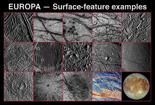 NASA image of Europa's surface