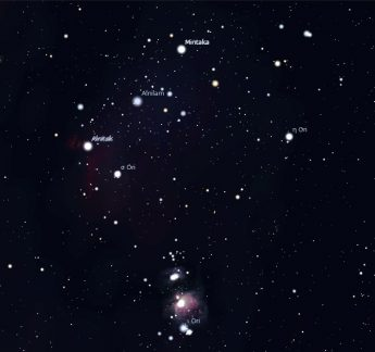 Photo of the Orion constellation.