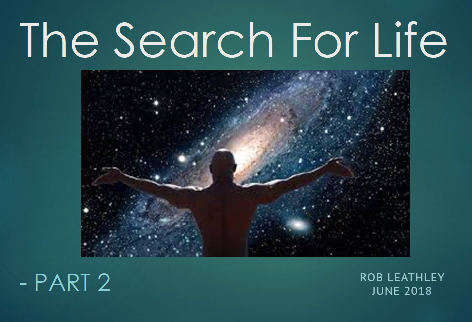Link to the pdf presentation by Rob Leathley to the Saint John Astronomy Club about the Kepler Mission and the search for life--Part 2