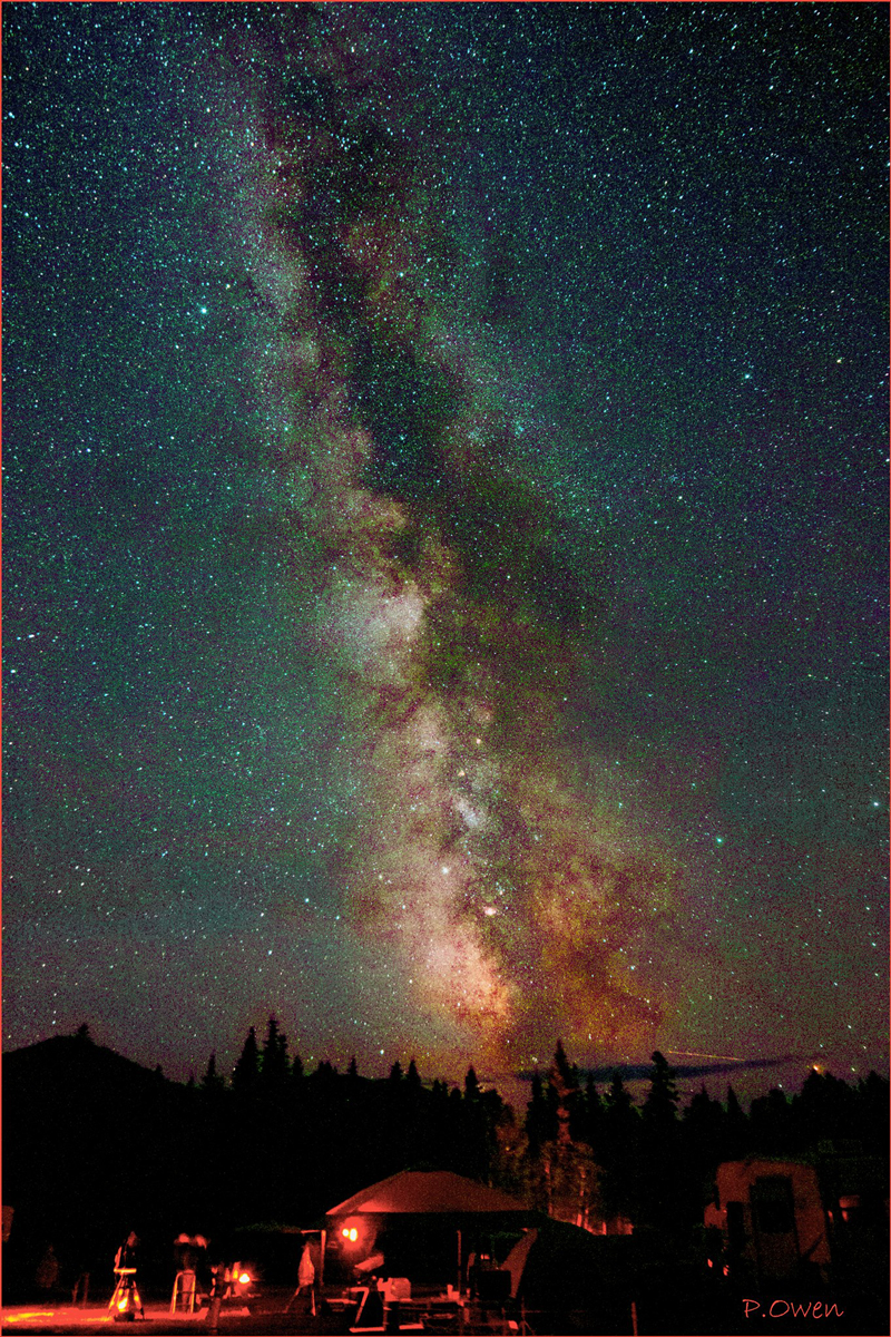Photo of the night sky by Paul Owen at the Mount Carleton Star Party 2018.