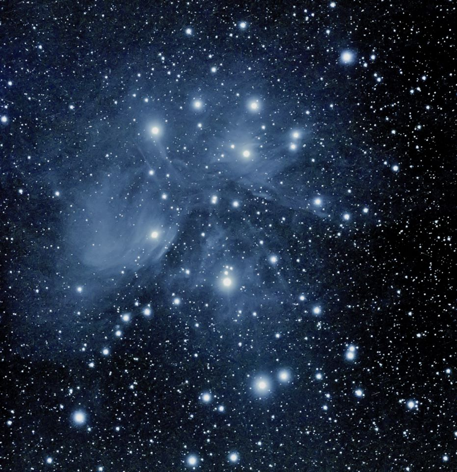 Photo by Paul Owen of the Pleiades Star Cluster M45