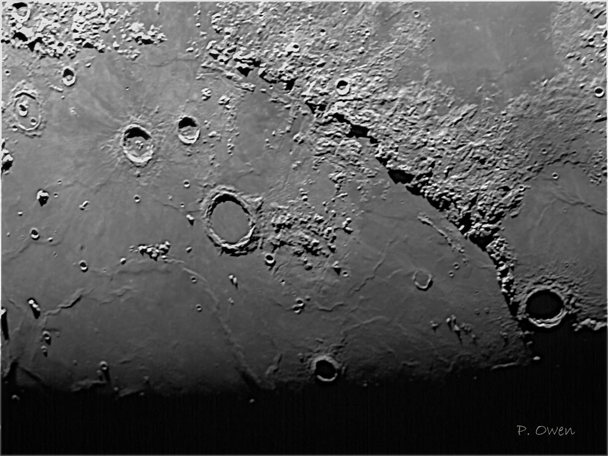 Image of the Moon's Apennines mountain range by Paul Owen