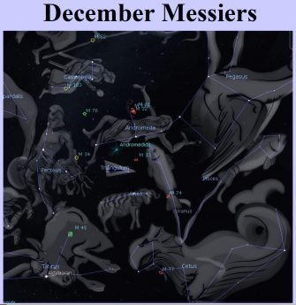 Messier objects for December by Curt Nason