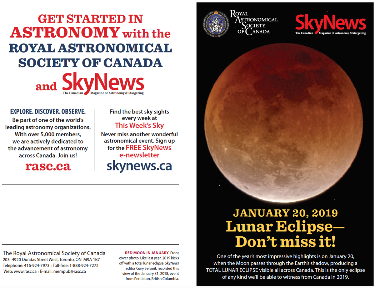 Sky New 2019 Eclipse Page1 Saint John Astronomy Club