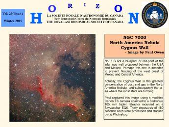 Link to the RASC NB Horizon Winter 2019 Newsletter.