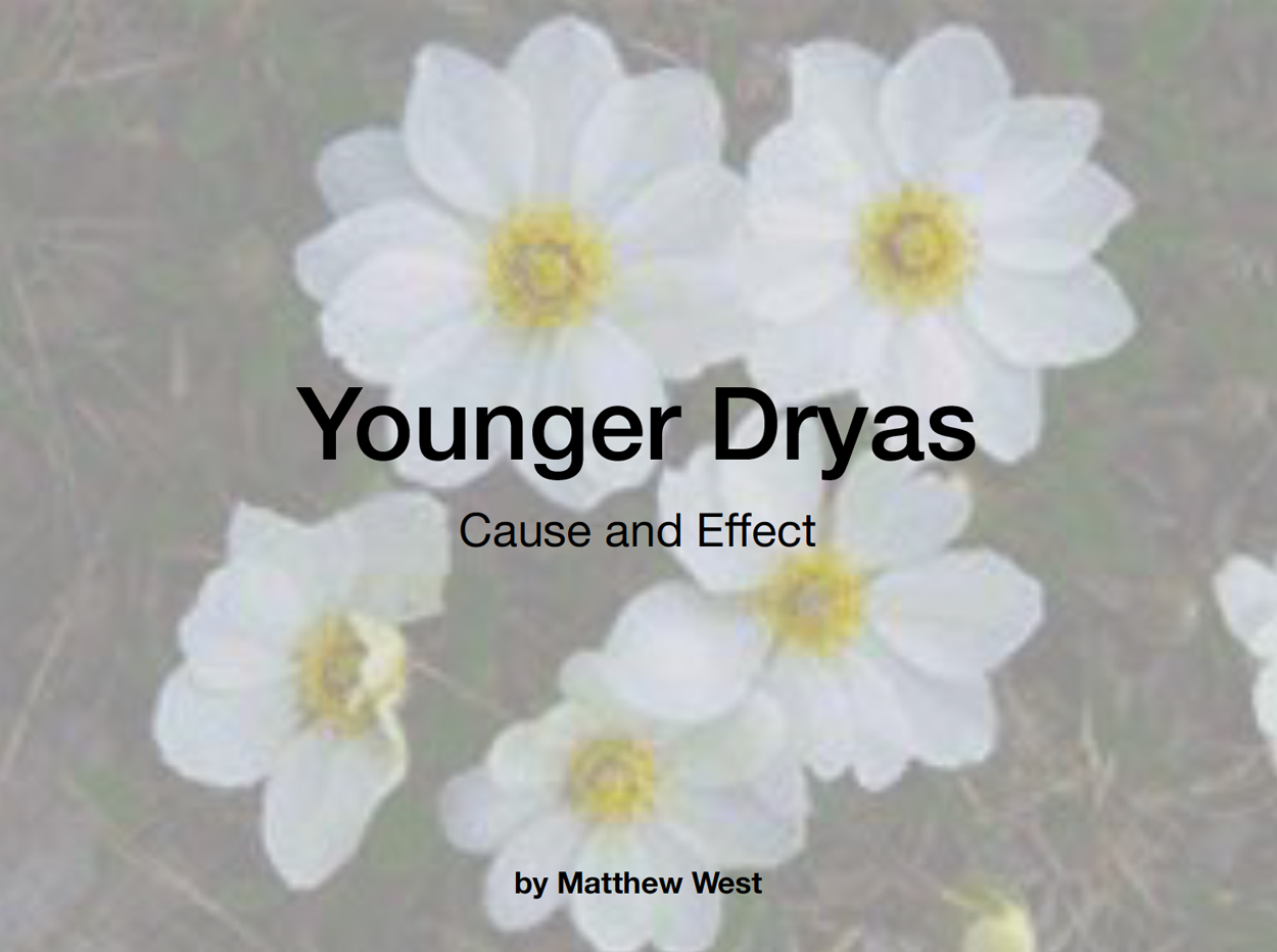 Link to the pdf presentation by Matt West on Younger Dryas at a SJAC meeting.