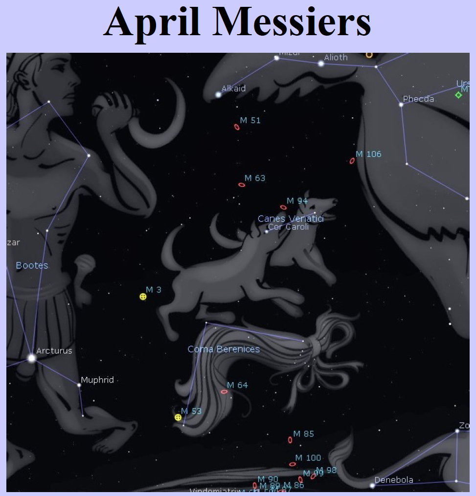 Link to the pdf file of Curt Nason's list of Messier targets for April.