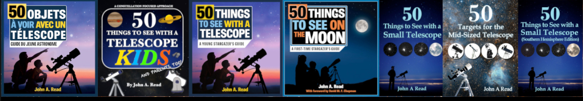 Photo that links to the Facebook Page 50 Things to See with a Small Telescope by John Read
