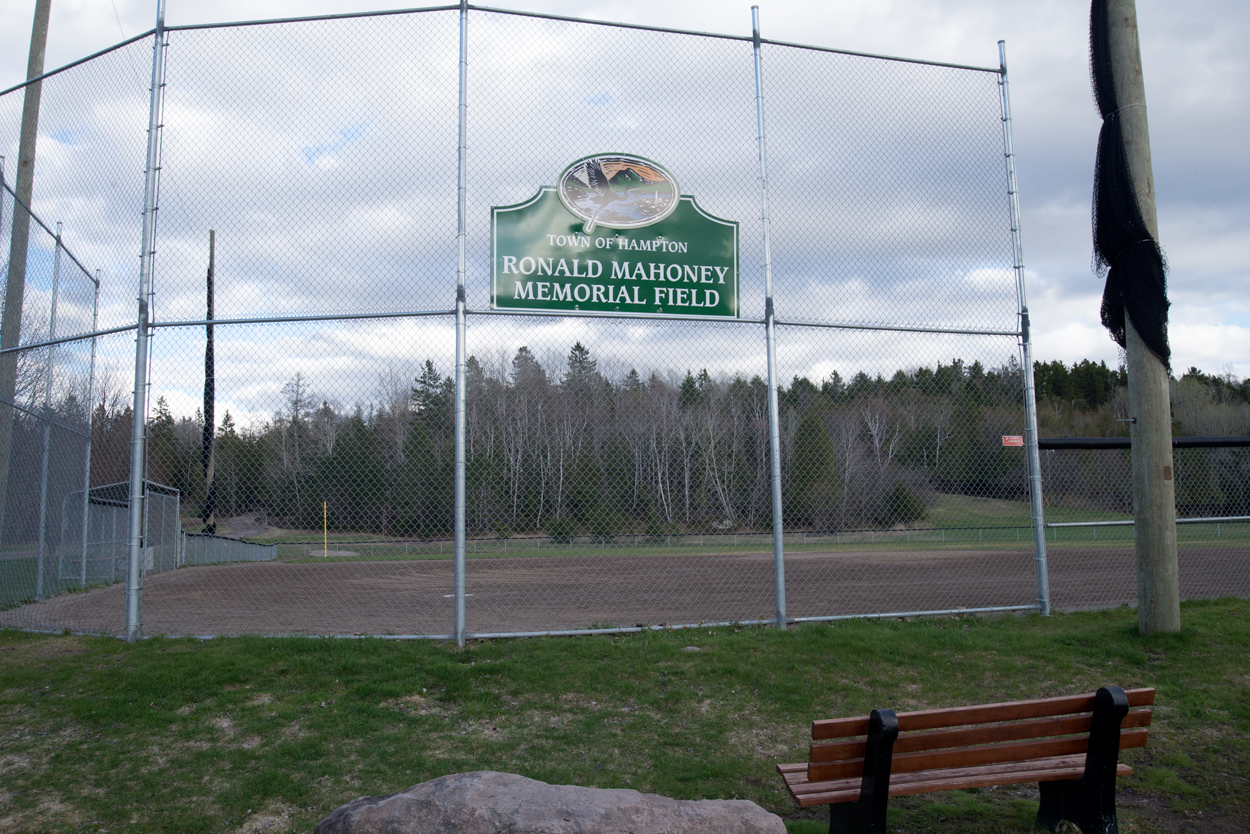Photo of Ronald Mahoney Memorial Field at the Dutch Point Park, Hampton, NB.