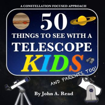 Amazon link to John Read's 50 Things to See with a Telescope for Kids.