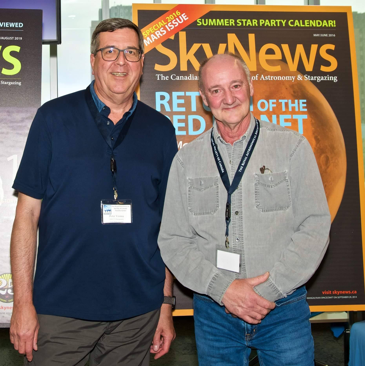 Photo of Chris Curwin with Peter Visima of RASC Toronto Centre at the RASC General Assembly in June 2019.