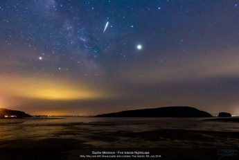 Night sky photo of the Five Islands, Nova Scotia, by Sophie Melanson.