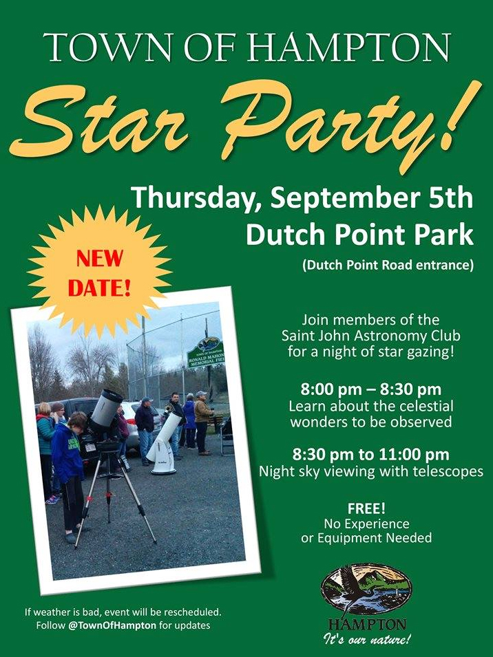 Photo link to the Hampton Star Party Facebook Event on Thursday, Sept. 5, 2019.