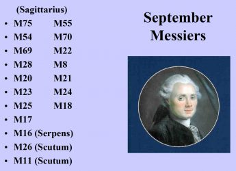 A list of Messier objects for September by Curt Nason in pdf format.