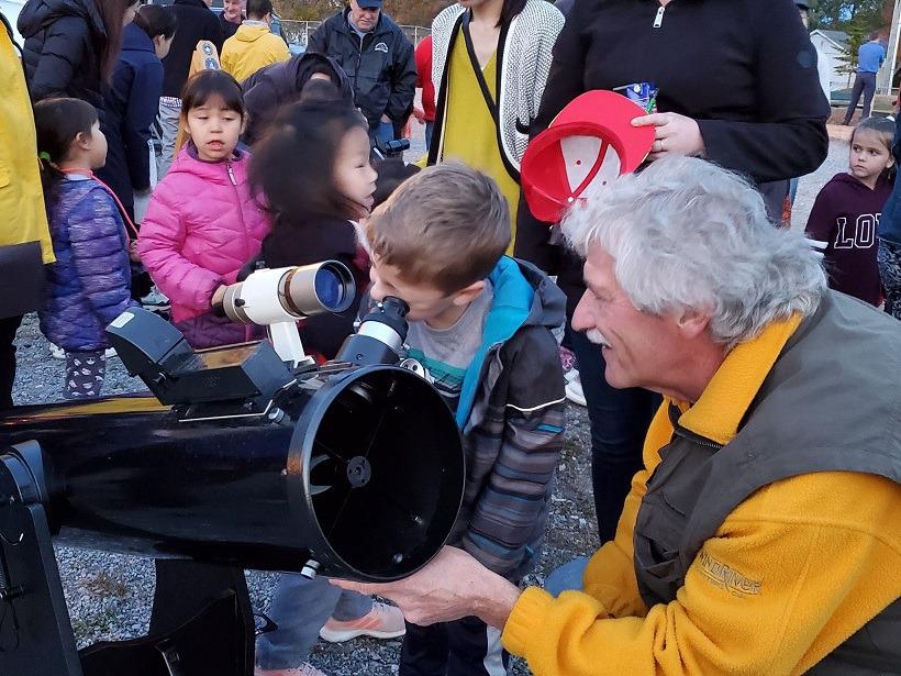 Saint John Astronomy Club Outreach at a local school in New Brunswick.