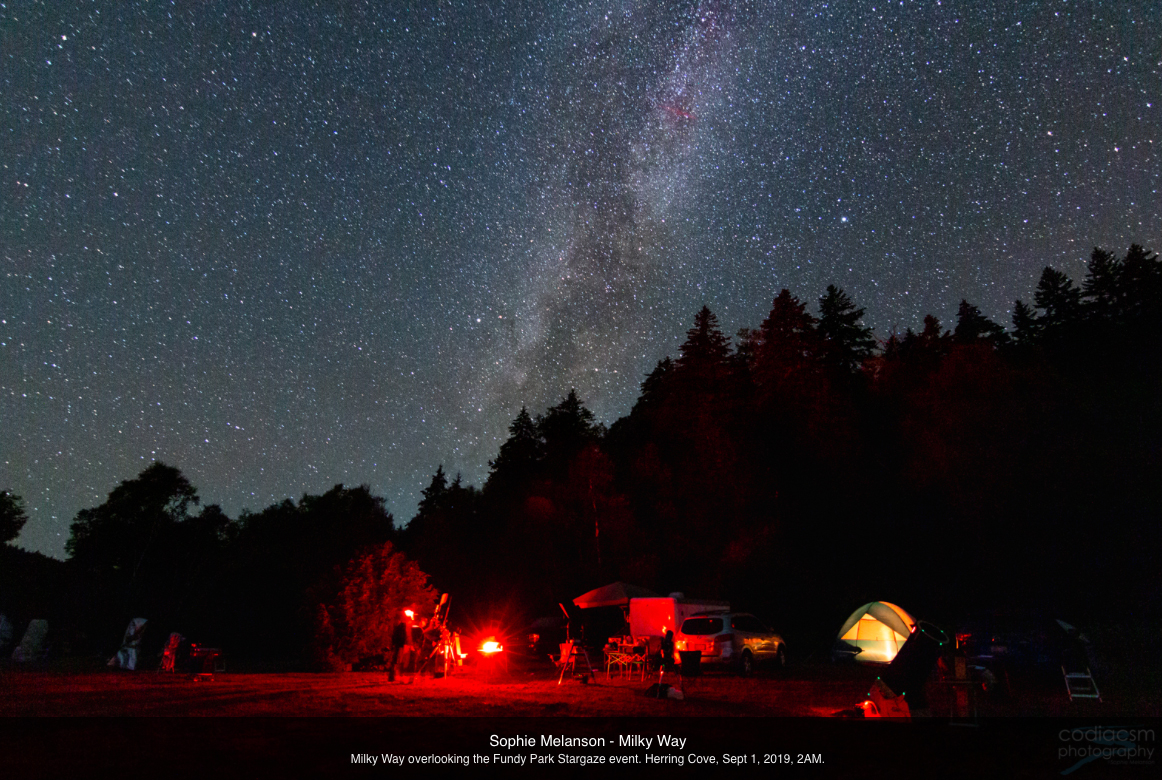 Photo of the Milky Way by Sophie Melanson overlooking the 2019 Fundy StarGaze