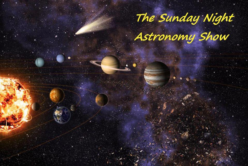Photo showing The Sunday Night Astronomy Show that will broadcast live on YouTube.
