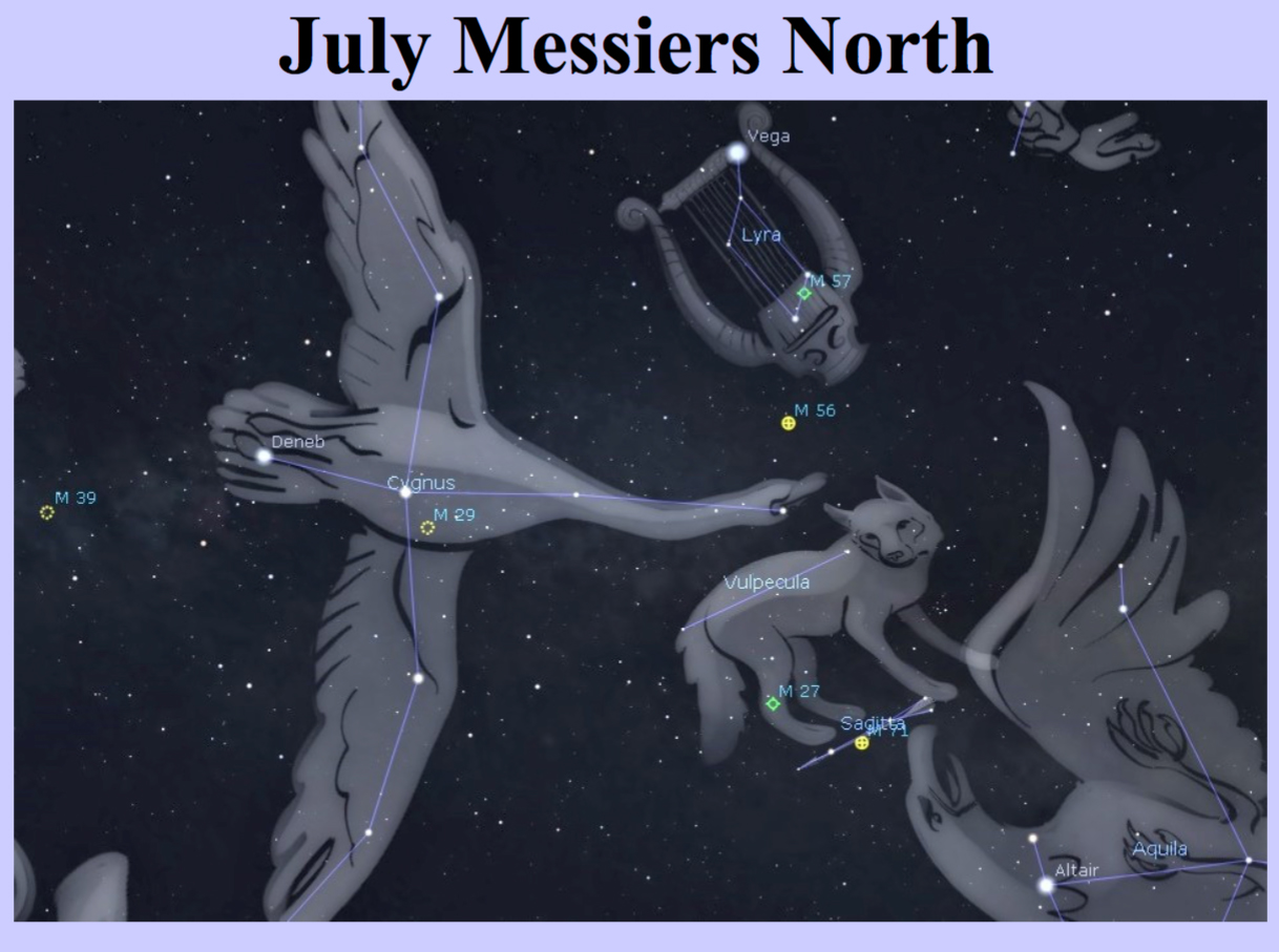 July Messiers-North-night sky targets by Curt Nason.