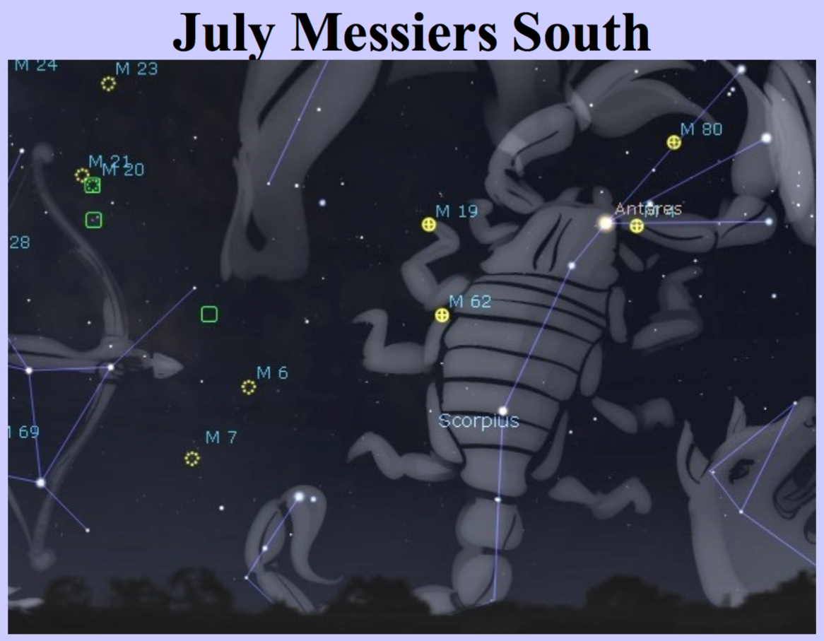 July Messiers-South-night sky targets by Curt Nason.