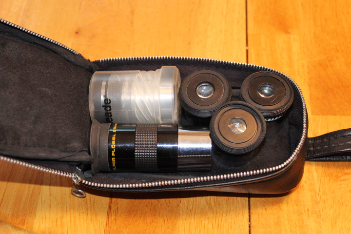 Meade Eyepieces for the 90mm Refactor Telescope available for borrowing from the Saint John Astronomy Club.