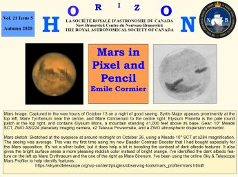 Link to the RASC NB Horizon Autumn 2020 Newsletter.